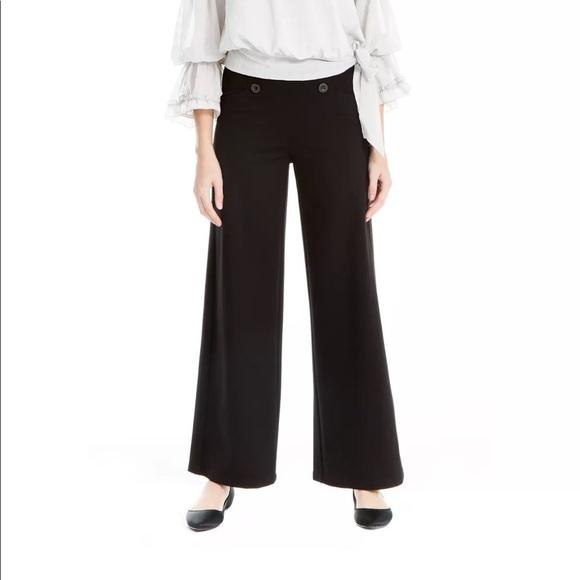 Max Studio London Womens Ponte-Knit Sailor Casual Wide Leg Pants